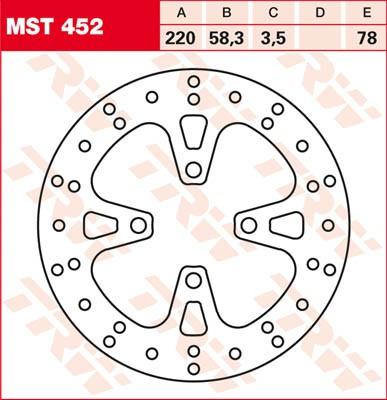 TRW Lucas Bremsscheibe MST452, starr