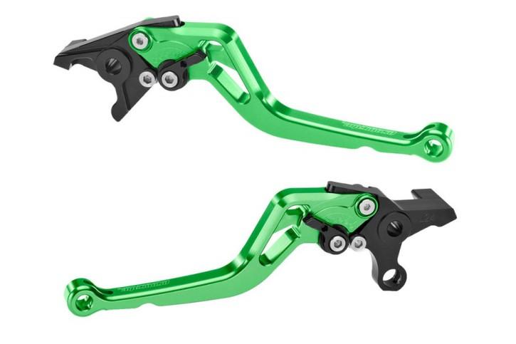 probrake Clutch- & brake lever set MIDI, green