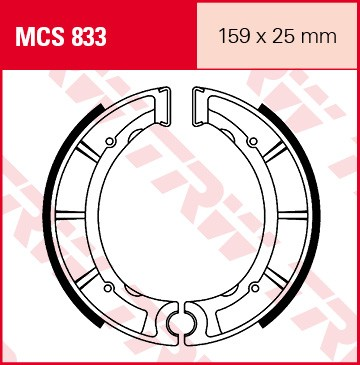 TRW Lucas Bremsbacken MCS833