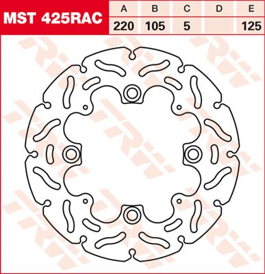 TRW Lucas Bremsscheibe MST425RAC,starr