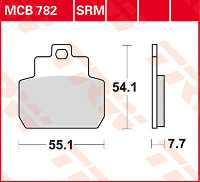 TRW Lucas Bremsbelag MCB782