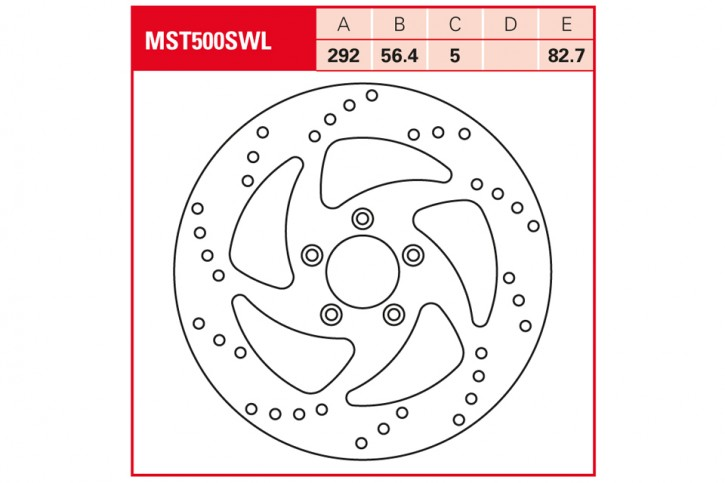 TRW Lucas Bremsscheibe MST500SWL, starr, Swing-Design