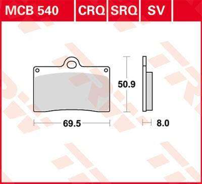 TRW Lucas Disc brake pad MCB540