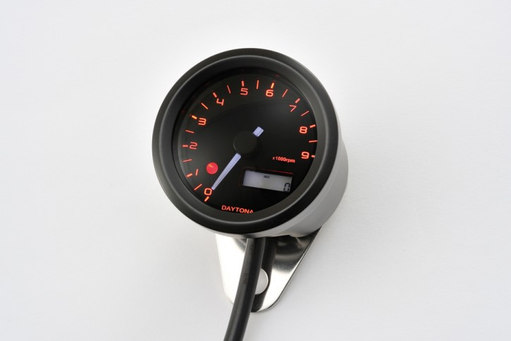 DAYTONA Digital tachometer VELONA, black, Ø 48mm, 9.000 RPM