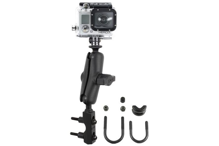 RAM Mounts GoPro Motorrad-Kamerahalterung - mit Basisbefestigung für Lenker/Bremse/Kupplung