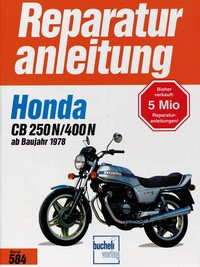 Motorbuch Engine book No. 584 repair instructions HONDA CB 250 N/400 N (1978-)