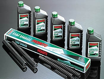 Fork springs for HONDA XBR 500, CB 650SC, CB 1100 R / KAWASAKI / GPZ 500 S, Z 1000 J / YAMAHA XJ 900