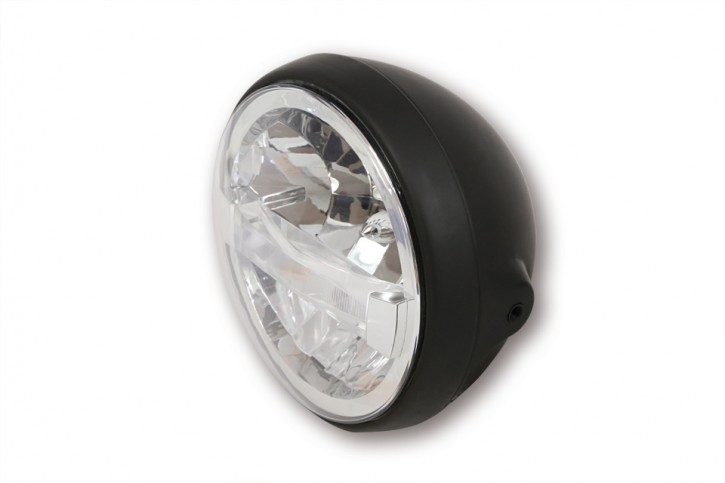 HIGHSIDER 7 inch LED headlight BRITISH-STYLE TYPE 4, black