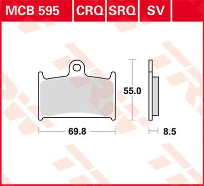 TRW Lucas Sinterbelag MCB595SV