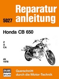 Motorbuch Engine book No. 5027 repair instruction HONDA CB 650 78-