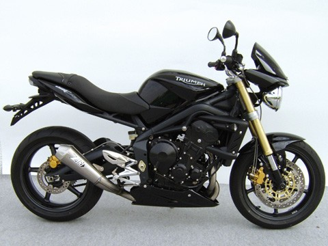 ZARD Complete system low mounted TRIUMPH Street Triple, stainless steel, 3-1, cat.