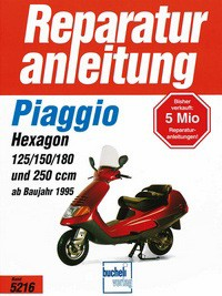 Motorbuch Bd. 5216 Reparatur-Anleitung Piaggio Hexagon Bj 1995