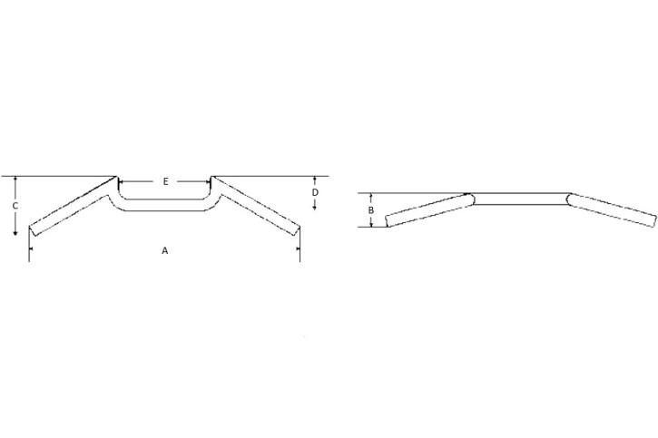 FEHLING M-Lenker, 7/8 Zoll, 57,5 cm, chrom