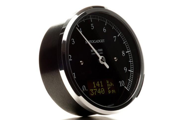 motogadget Drehzahlmesser Chronoclassic DarkEdition -10.000 U/min