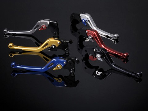 ABM Clutch lever synto KH32 - long, gold/red
