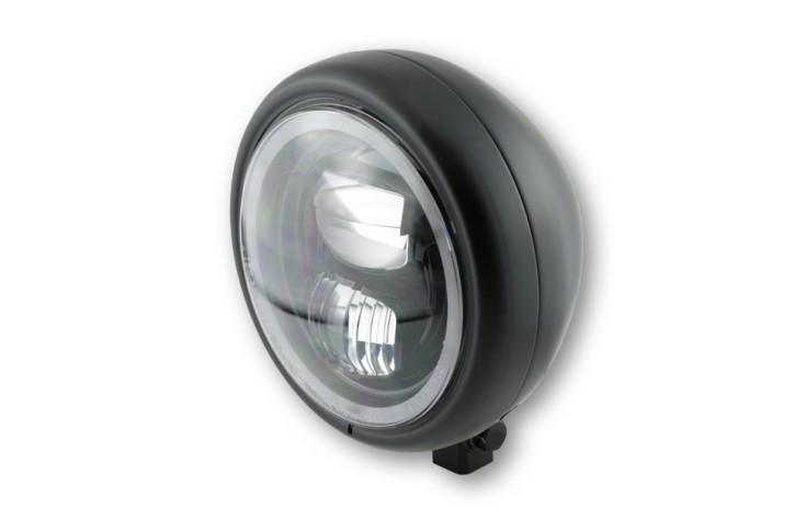 HIGHSIDER 5 3/4 Zoll LED-Scheinwerfer PECOS TYP 7 mit Standlichtring, schwarz matt