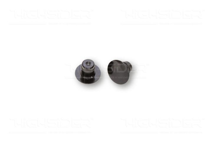 2 SPIEGELGEWINDE-ABDECKKAPPEN, Verschlusskappen f. M10 Spiegelgewinde, schwarz,