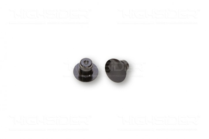 2 HOLE PLUGS f. M10 mirror threads, black