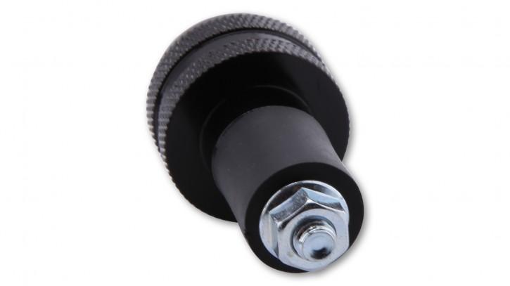 LAGERRÄUMUNG: SHIN YO Lenkergewicht, schwarz, gerändelt, für Stahllenker
