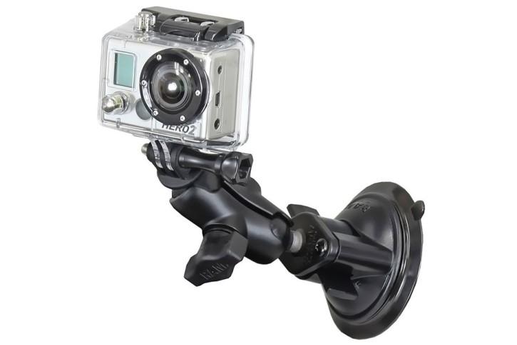 RAM Mounts GoPro Saugfuß-Kamerahalterung (kurz), B-Kugel (1 Zoll)