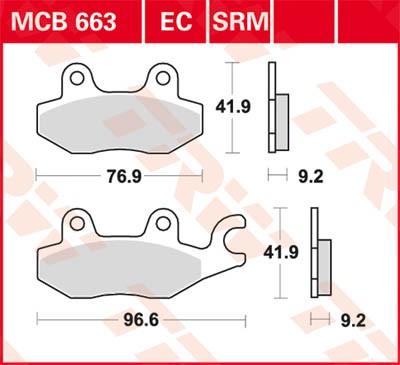 TRW Lucas Bremsbelag MCB663