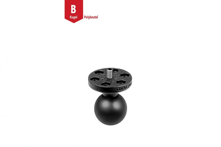 RAM Mounts Composite base plate with 1/4 inch-20 thread - 1 inch B-ball