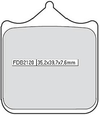 FERODO Sinterbelag FDB 2120 ST (4 Beläge/Satz)