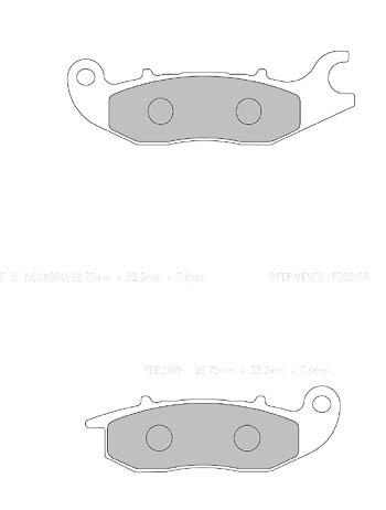 FERODO Disc brake pad FDB 2169 EF