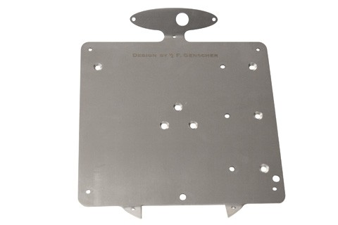 Genscher Plate for license plate with 255-999 and 256-003