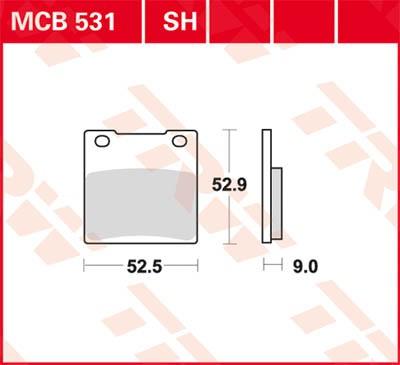 TRW Lucas Disc brake pad MCB531
