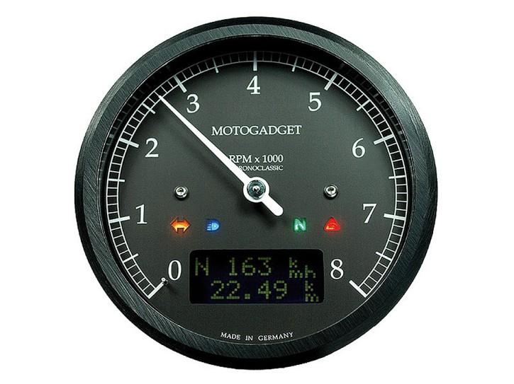 motogadget Chronoclassic rev counter dark edition -8.000 RPM