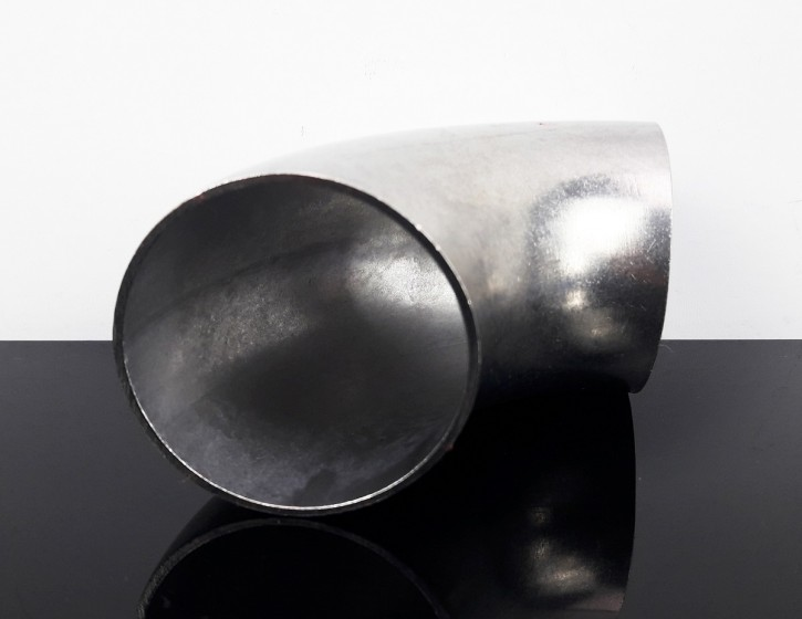 EXHAUST PIPE, bending, stack, stainless steel, 90 degree, app. 45mm