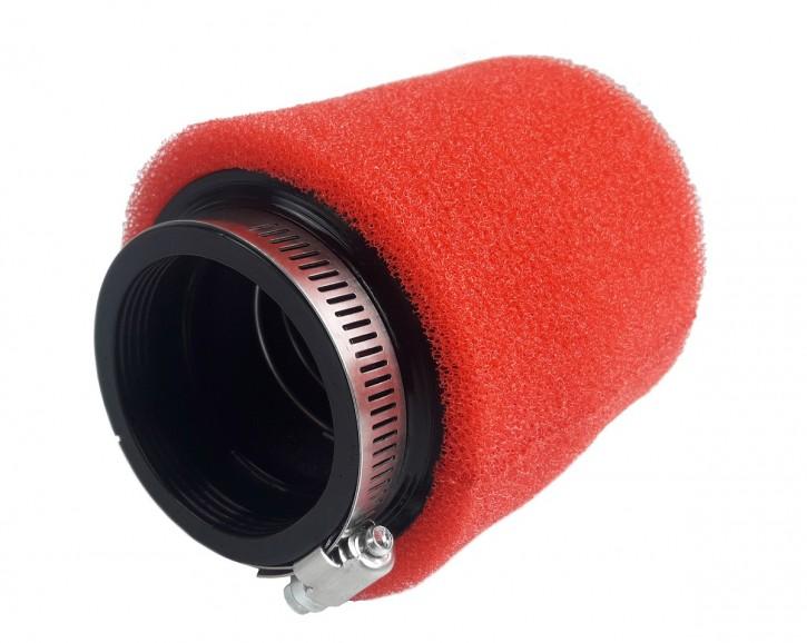 Sport-LUFTFILTER mit Schaumstoffeinsatz, ca. 57 mm, rot