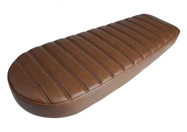 Cafe-Racer, Scrambler SEAT, universal, vintage brown, double stitch