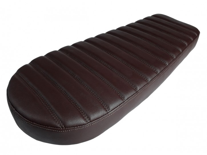 Cafe-Racer, Scrambler SEAT, universal, dark brown, double stitch