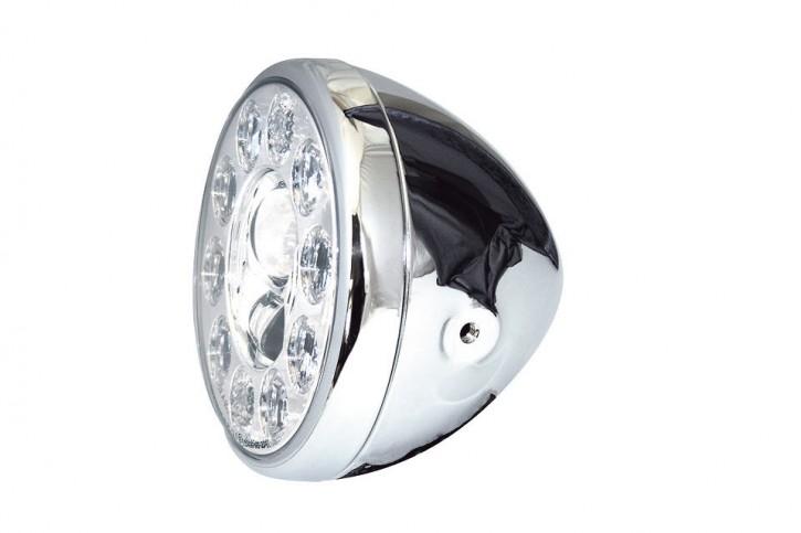 LED-SCHEINWERFER von HIGHSIDER, verchromt, E-geprüft
