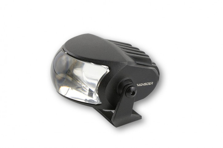 LED high beam headlight COMET- LOW, matt black