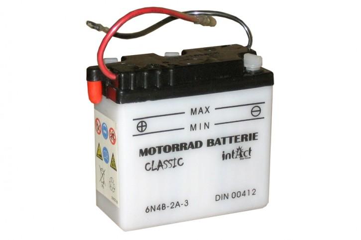 INTACT Bike Power Batterie 6N4B-2A-3 mit Saeurepack