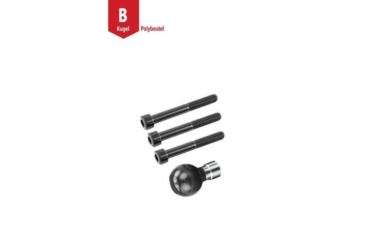 RAM Mounts Motorrad Basiskugel für Motorradlenker - M8-Schrauben, B-Kugel (1 Zoll)