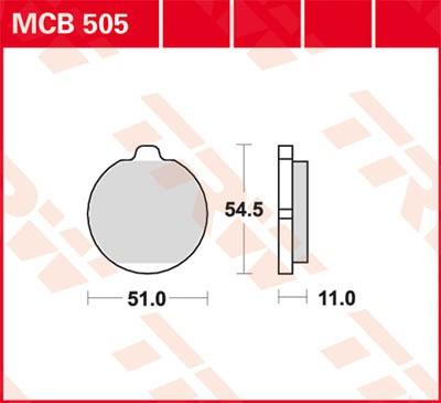 TRW Lucas Bremsbelag MCB505