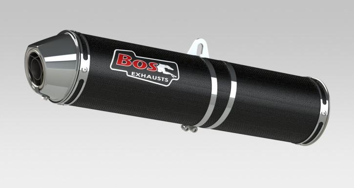 BOS Endschalldämpfer carbon-steel HONDA CBR 500 R, 13-