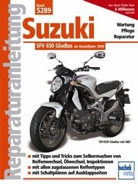 Motorbuch Engine book No. 5289 repair instructions SUZUKI SFV 650 Gladius, 09-