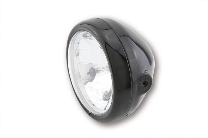 SHIN YO 5 3/4 Zoll Hauptscheinwerfer PECOS, schwarz glänzend