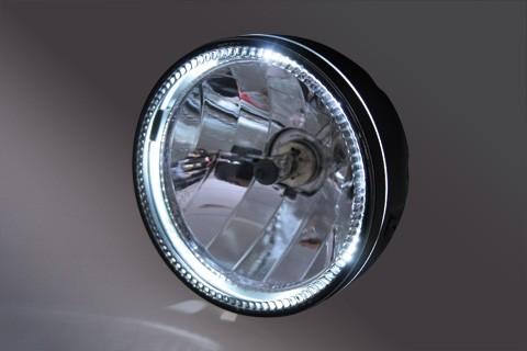HIGHSIDER 5 3/4 Zoll Hauptscheinwerfer SKYLINE, LED Standlichtring