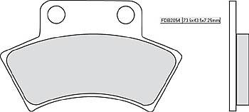 FERODO Sinter disc brake pad FDB 2054 SG