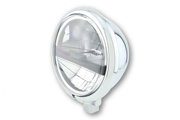 HIGHSIDER 5 3/4 inch LED main headlamp BATES STYLE TYP 5, chrome