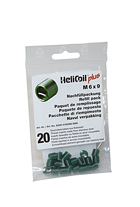 HELICOIL Refill pack plus thread inserts M 6