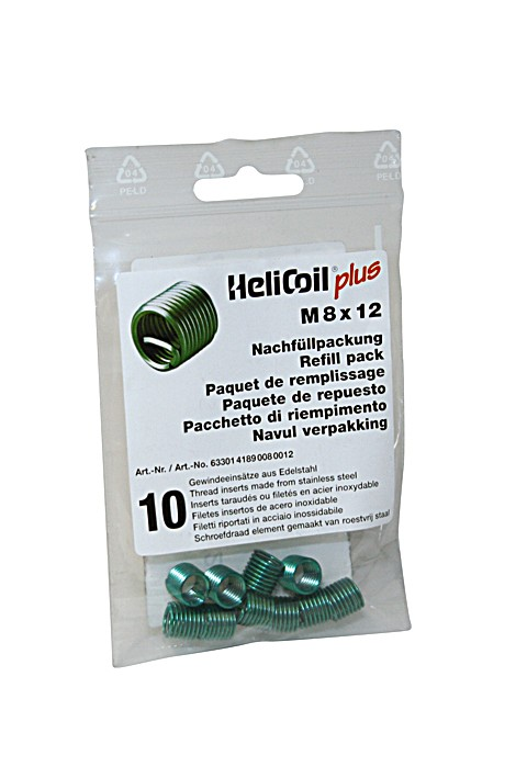 HELICOIL Refill pack plus thread inserts M 8