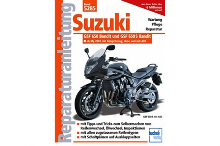 Motorbuch Engine book Bd. 5285 Repair manual SUZUKI GSF 650 Bandit from model year 2007 - Injection, water cooled