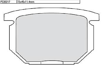 FERODO Disc brake pad FDB 217 P